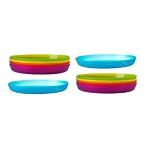 31PWSMqII8L. SS300  - 3 x Elegant Design Break-Resistant Party Serving Plastic Plates in 6 Assorted Colors
