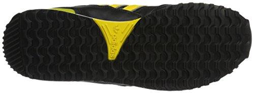 adidas Zx 750, Scarpe da Ginnastica Basse Uomo Nero (Core Black/eqt Yellow S16/ch Solid Grey)