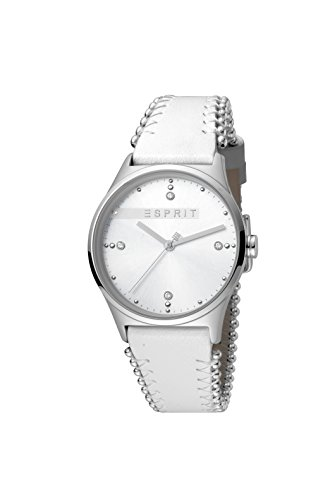 Esprit Femmes Analogique Quartz Montre avec Bracelet en Cuir ES1L032L0015