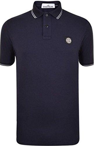 Stone Island .. Herren Poloshirt, Einfarbig Gr. M, marineblau