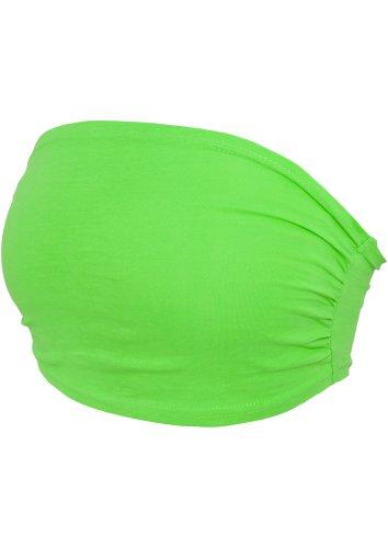 Urban Classics Ladies Bandeau Top Top a fascia donna verde neon L