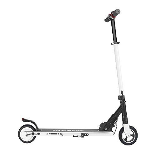 M MEGAWHEELS Monopattino Pieghevole Scooter Elettrico I-Bike da Città Pieghevole per Adulti e Bambini (Bianca)