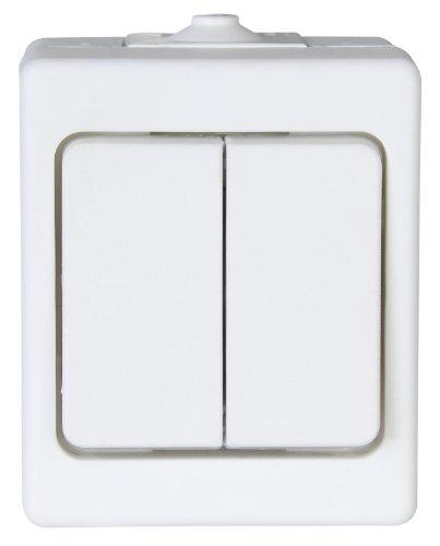 Kopp 563502007 Aufputz-Feuchtraum Serienschalter, IP44, Standard