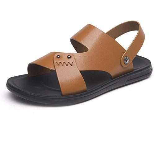 YYAMO Herren Sandalen Sommer Mittelalter Strand Schuhe Atmungsaktive Weiche Unterseite rutschfeste Trend Trekking Und Wandern Schuhe, Sport Und Outdoor Walking @ 43,26.5Cm -