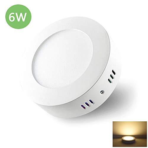 Preisvergleich Produktbild Deckenleuchte Rund 6W LED Deckenlampe Wandlampe Wandleuchte 3000K Warmweiß für Küche,  Flur,  Keller (Nicht Dimmbar)