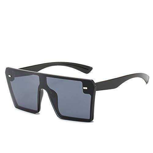 Yangjing-hl Rahmenlose Mode Brille net rot stück Farbverlauf Reis Nagel Sonnenbrille schwarz Rahmen schwarz stück