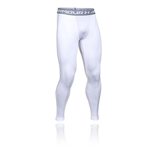 Under Armour Ua Cg Armour Leggings Herren Fitness - Hose, Weiß White/Steel, L -