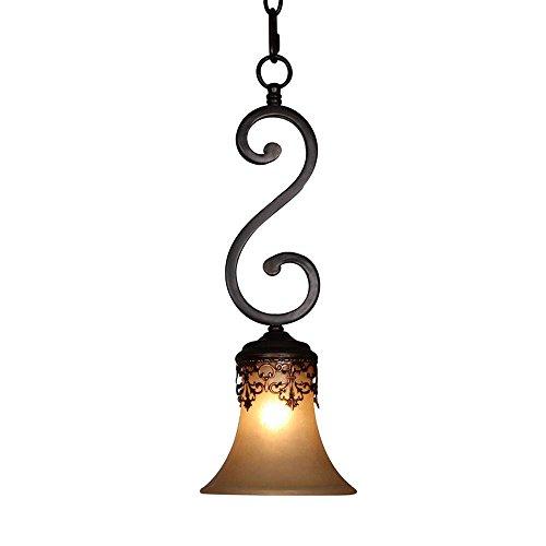 American Esszimmerstuhl Antik Deckenleuchte Pendelleuchte, Lampenschirm aus Metall zum hängen...
