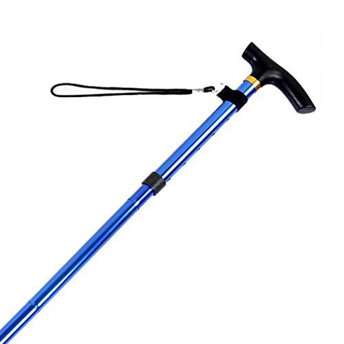 Einstellbar Cane (Vkospy Einstellbare zusammenklappbarer Canes Tragbare Gehhilfe Sticks für Senioren mit Kissen Griff für Outdoor Trekking Wandern)