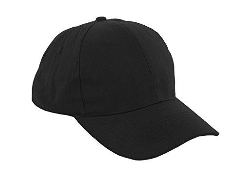Unisex Jungen Mädchen Mütze Baseball Cap Hut Kinder Kappe Morefaz TM (Schwarz)