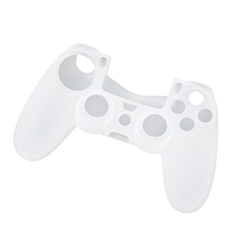 Imported Silicone Protective Skin Case Cover for Sony PlayStation 4 PS4 Controller - White  available at amazon for Rs.250