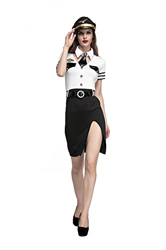 Kostüm Girl Up Pin - VENI MASEE Damen Sexy Sailor Girl Pinup Navy Uniformen Halloween Kostüm Kostüm