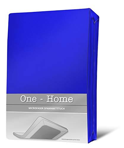 one-home Spannbettlaken royal blau 140×200 cm – 160×200 cm Microfaser Spannbetttuch