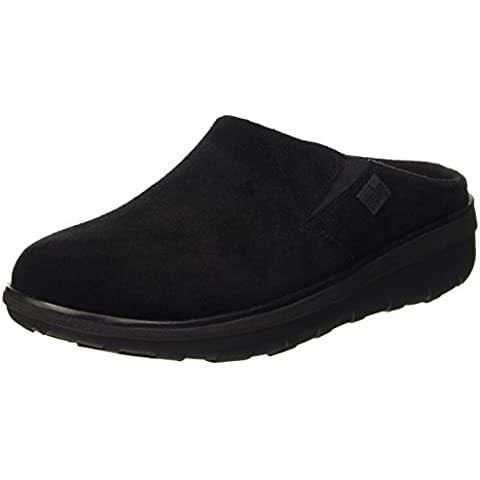 FitFlop Loaff Tm Suede Clog, Pantofole A Collo Basso Donna