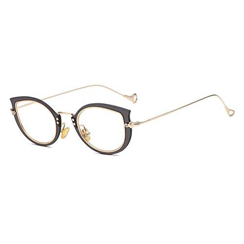 Hibote Männer Frauen Cat Eye Brille - Klare Linse Brillengestell - Mode Brillen Eyewear 122902