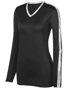 Augusta Sportswear Women'S Vroom Jersey M Black/White