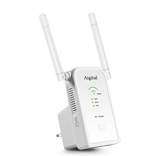 Repetidor WiFi 300Mbps Extensor de Red WiFi Amplificador Enrutador Inalámbrico 2.4G, Puerto...