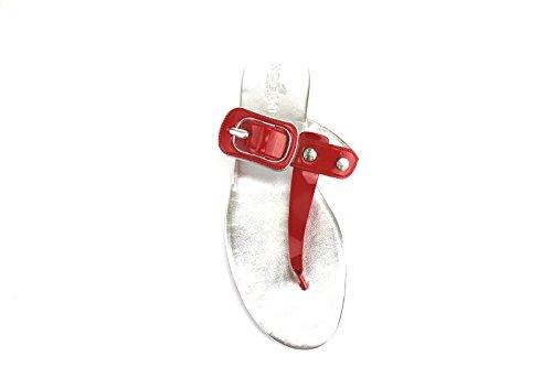 HOGAN sandali donna vernice viola / rosso / azzurro Rosso