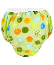 Kushies Kushies Potty Taffeta Training Pants - Large - Crazy Circles Green