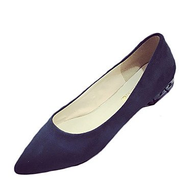 Confortevole ed elegante piatto scarpe donna Appartamenti Primavera Estate altri PU Casual tacco piatto altri nero giallo grigio blu scuro mandorla Dark Blue