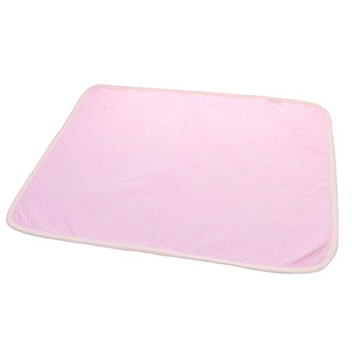 Bambini Riutilizzabile Pad Impermeabile Pannolino Mat Passeggino Letto Presepe Carrozzina Materasso - Rosa, 35 * 45cm