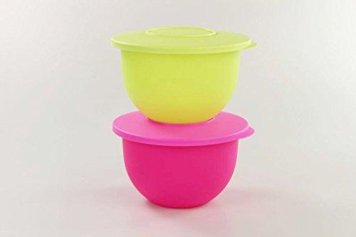 TUPPERWARE Junge Welle 1,3 L limette+1,3 L neon pink Schüssel Schale Servieren 17352