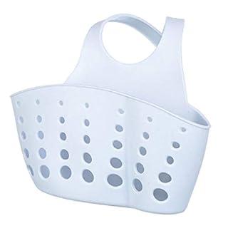 Windy5 PVC Plastic Adjustable Hanging Storage Baskets Sink Sponge Soap Holder for Kitchen Organization