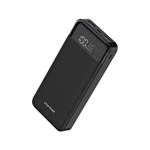 Charmast Powerbank 20800mAh Externer Akku USB C Power Bank LED Display Handy Ladegerät 2 Eingänge 3 Ausgänge Micro USB Typ C für iPhone XS/X/8/7/6,iPad,Samsung,Nintendo Switch,Tablet,mehr Smarphone