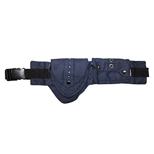 Freak Scene® Tasche ° Gürteltasche ° Jerry ° Bauchtasche ° Hüfttasche mit mehreren Taschen, alle Farben!!! blau