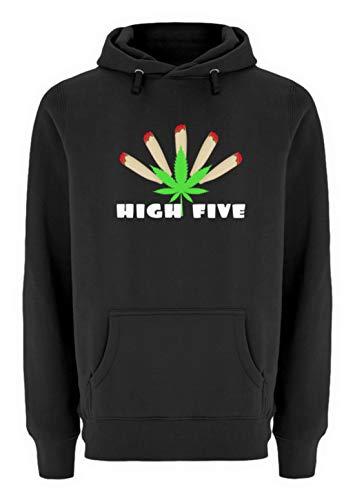 generisch High Five mit Joints Hanf Marihuana - Unisex Premium Kapuzenpullover -XXL-Schwarz - High Five Jacke Kinder