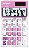 Casio© Taschenrechner SL-300NC-PK, Solar-/Batteriebetrieb, 8stellig, pink