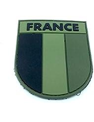 France Subjugué Patch Drapeau Vert PVC Moral Patch