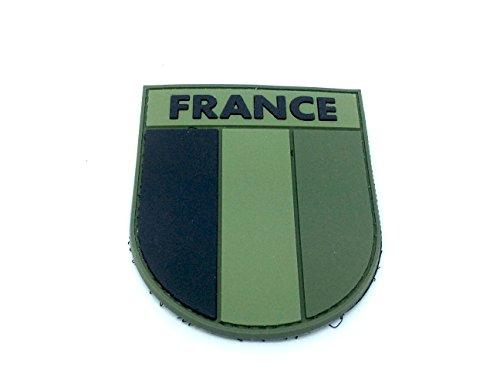 France Subjugué Patch Drapeau Vert PVC Velcro Patch