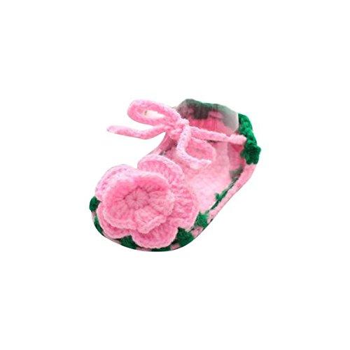 Baby Schuhe Krabbelschuhe Lauflernschuhe Mädchen Krippe häkeln handgemachte Knit Sock Daisy atmungsaktiv Woll Luckygirls (3)