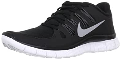 Nike Free 5.0+ 580591-002 Damen Laufschuhe Schwarz (Black/Metallic Silver-Dark Grey-White) 36.5