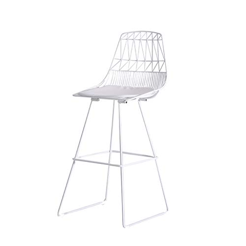 Eisen Barhocker Mode Kreative Hochhocker Stehtisch Und Stuhl Einfache Moderne Haushochstuhl Rückenlehne (Color : White) - Barhocker Eisen