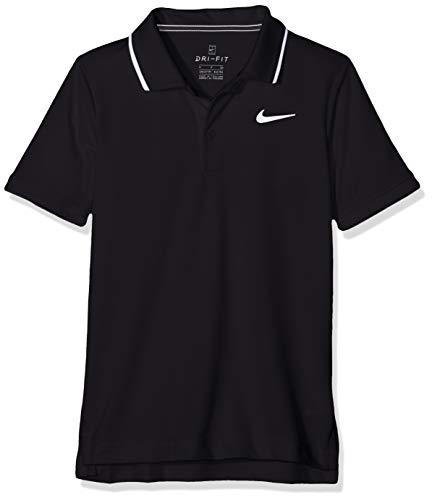 Nike Jungen Court Dry Team Poloshirt, Black/White, M
