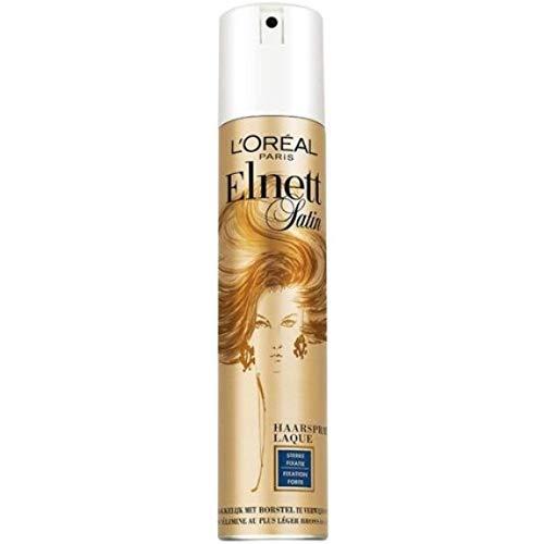 3er Pack - L\'Oreal Elnett Haarspray - Satin Strong Fixation - bietet Fixierung und Frisur für den ganzen Tag - 400 ml