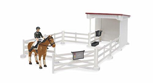 Bruder 62521 - Kleiner Reiterhof mit Reiterin, Pferd, Sattel und Zaumzeug (Kleidungsfarben gemischt Sortiert)