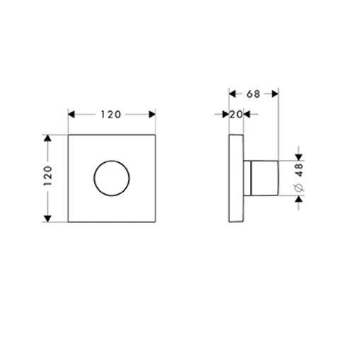 Hansgrohe 10932000 Fertigset Trio/Quattro Umstellung DN 15, chrom