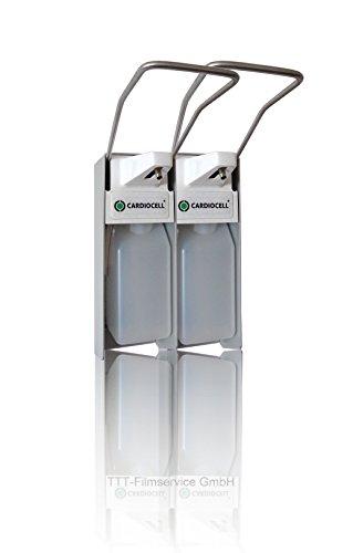 """Cardiocell Wandspender """"premium line"""" aus Aluminium Ausführung 500ml, inkl. Edelstahlpumpe, Universalspender, Seifen- und Desinfektionsspender (2)"""