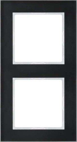 Jung AC 582 GL SW Rahmen Glas 2fach Serie A Creation schwarz