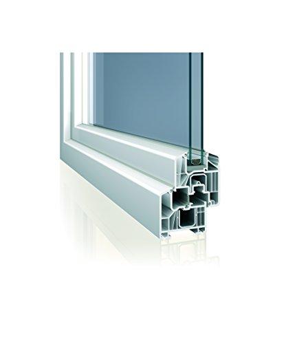 Fenster weiss 3-fach verglast 78x58 (BxH) kipp- und drehbar (DK-Rechts) als Maßanfertigung