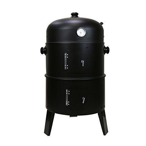 ex-pror-3-in-1-round-charcoal-bbq-grill-smoker-complete-with-hangers-and-thermostat-black
