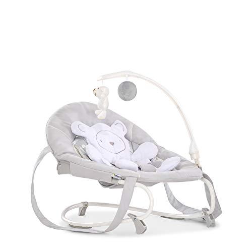 isure / Schaukelfunktion / abnehmbaren Spielbogen und Teddybär als Sitzverkleinerer / ab Geburt bis 9 kg verwendbar / kippsicher und tragbar, Teddy Grey (Grau) ()