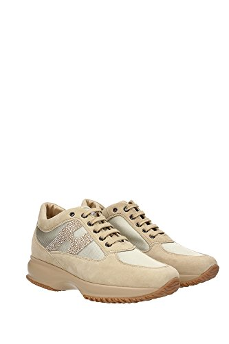 HXW00N02011SG29999 Hogan Sneakers Femme Chamois Beige Beige
