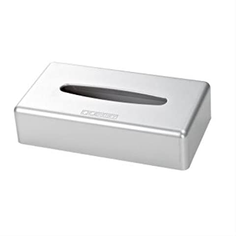 Corby of Windsor, Satin Chrome Rectangle Tissue Box Cover (Case