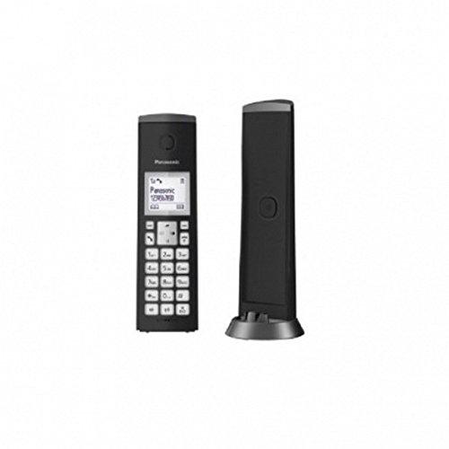 Panasonic KX-TGK210SPB - Teléfono inalámbrico Digital (LCD, identificador de Llamadas, Sistema de Sonido Personalizado, Altavoz Manos Libres) Color Negro