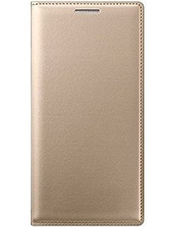 NEU SPEED HIGH QUALITY DESIGHNER LEATHER FLIP CASE COVER FOR SAMSUNG GALAXY J7 (GOLDEN)