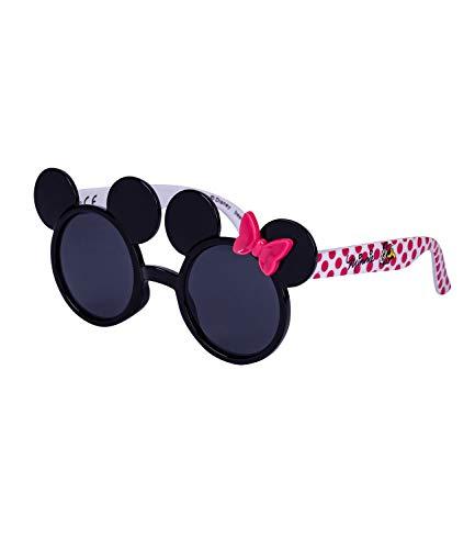 SIX Kids Sonnenbrille, Kindersonnenbrille, Minnie-Mouse, Schleife, Punkte, Autogramm, rund, schwarz, pink (128-784)